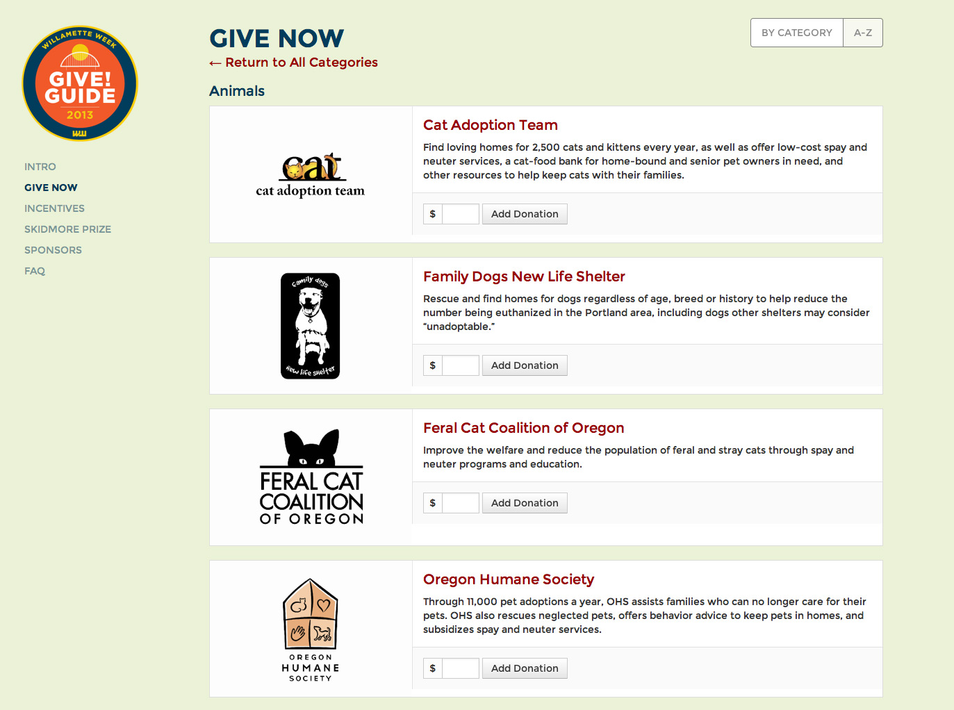 Give!Guide animals