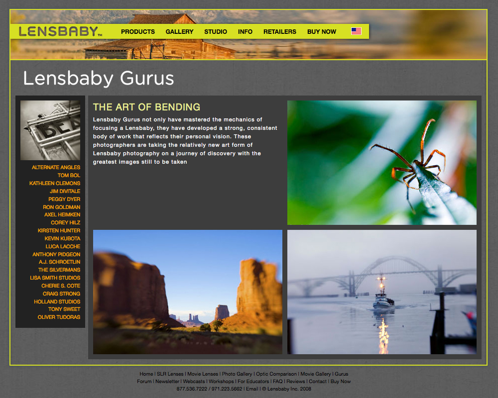 Lensbaby Gurus Section